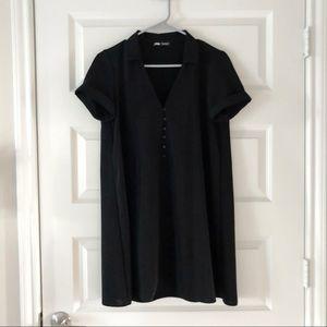 NWOT Zara Collared Mini Dress